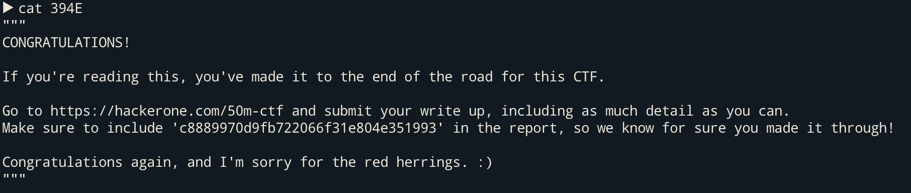 HackerOne 50M CTF Writeup | 0xc0ffee☕